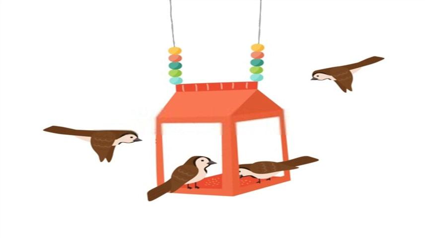 como hacer comederos para pájaros colgantes